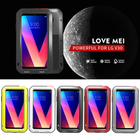 LOVE MEI Armor Metal Case For LG V40 V30 V20 V10 Cover Powerful Aluminum Shockproof Waterproof Case For LG V30 V20 Case Cover