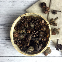Natural pinecone for aroma wax DIY crafts materials Christmas decoration dried flowers acorn gift box accessories wholesale