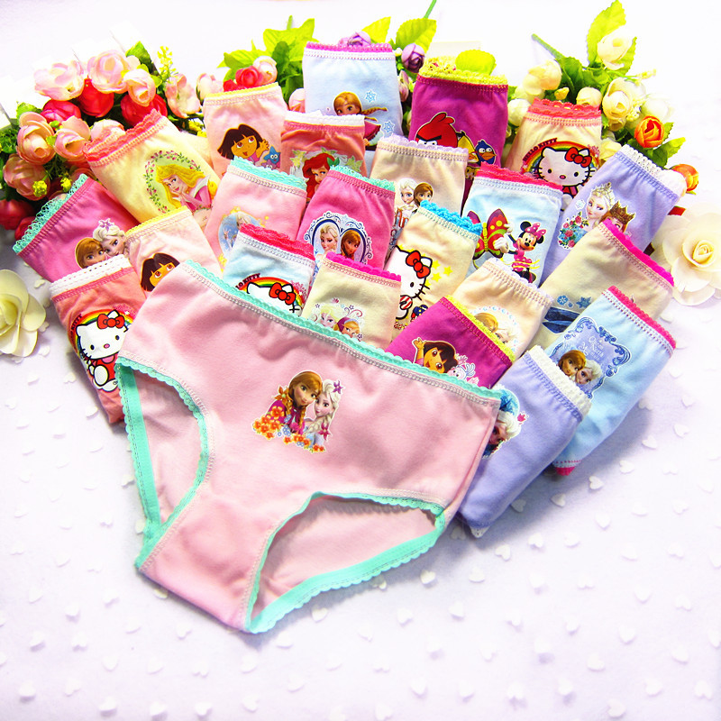 6pcs /lot 2018 new girl briefs kids girls underwear children underwear girls pant children's pants   tnn0003