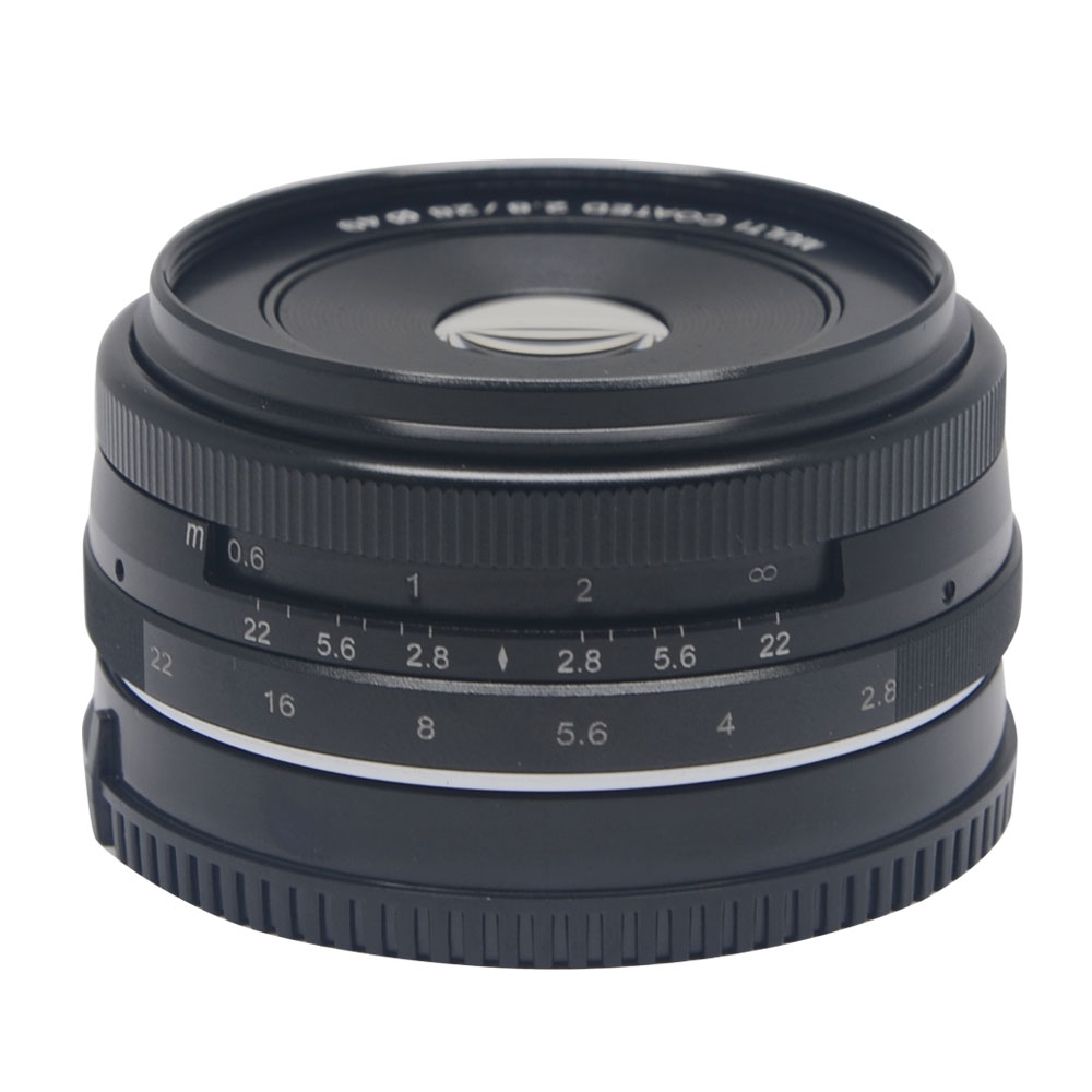 Venidice/Meike MK-28-2.8 28mm f/2.8 fixed manual focus lens for APS-C Mirrorless Camera Canon Eos M1 M2 M3Venidice/Meike MK-28-2.8 28mm f/2.8 fixed manual focus lens for APS-C Mirrorless Camera Canon Eos M1 M2 M3