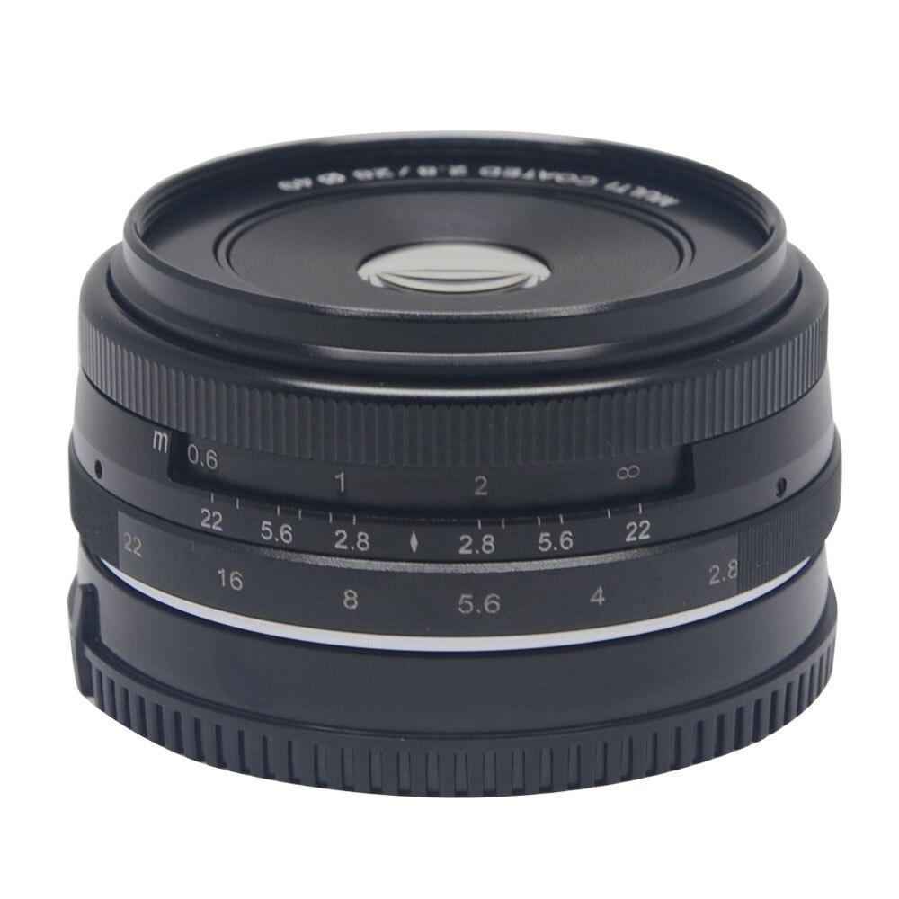 Venidice/Meike MK-28-2.8 28mm f/2.8 objectif de mise au point manuelle fixe pour appareil photo sans miroir APS-C Canon Eos M1 M2 M3