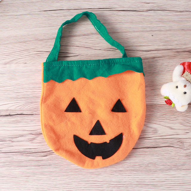 Diy Halloween Trick Or Treat Bags.1pcs Candy Bag Halloween Sweet Pumpkin Goodies Holder Treat Bag Gift Organizer Handbag For Halloween Trick Or Treat In Party Diy Decorations From Home