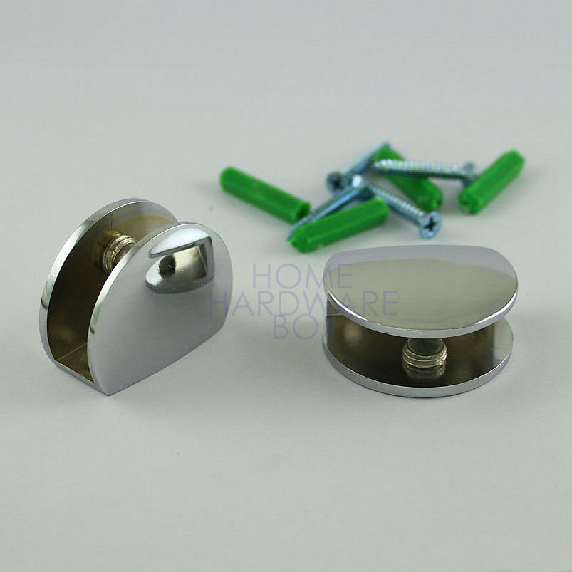 one pair glass shelf clamp holder clip zinc alloy CRL ...