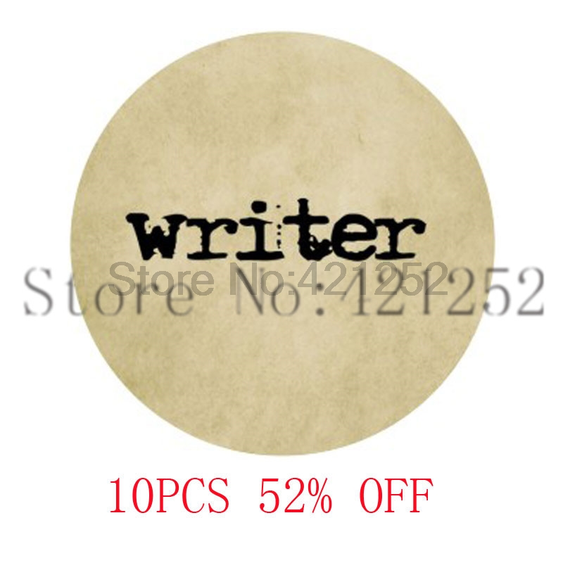 Writer Typewriter & Old Paper Necklace keyring bookmark cufflink earring ...