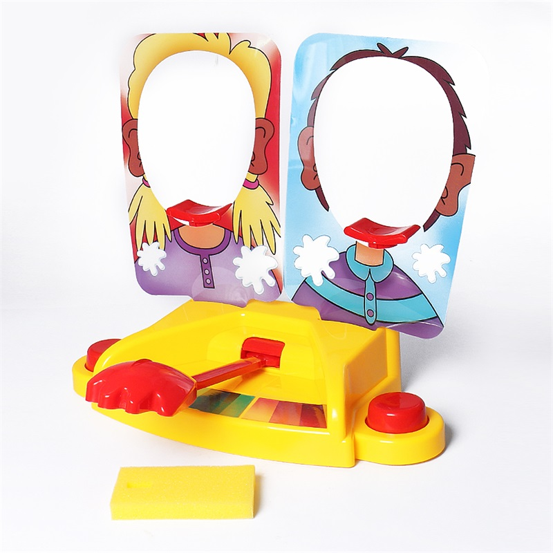 Funny Double Person Toy Cake Cream Pie In The Face Anti Stress Toy for font b