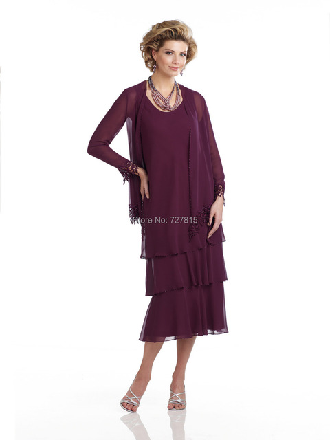 Mother of the Bride Dresses in Eggplant