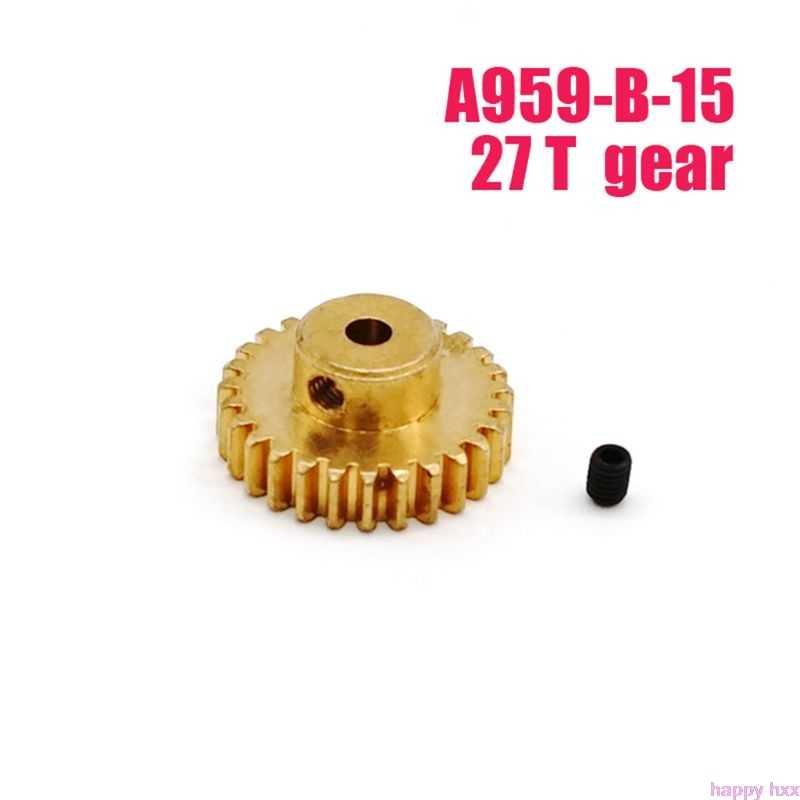 Nuevo Metal engranaje del Motor 27 T para WLtoys A959-B-15 A969-B A979-B 540 Motor RC Coche
