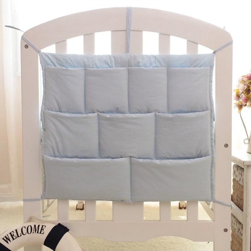 Baby bumper Baby Bedding set Hanging Bag Storage Cotton Newborn Crib Toy Diaper Organizer Pocket for Crib Nursing bag