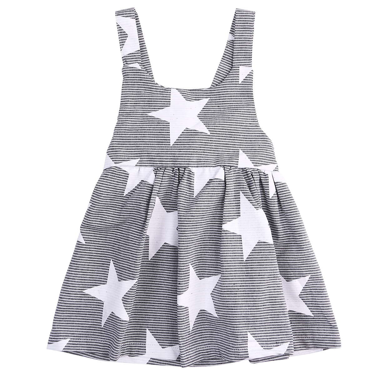 2017 Summer Toddler Kids Baby Girl Star Dress Sleeveless Backless Halter Clothes Children Girls Princess Party Dress 2-7Y fashion kids girls toddler baby lace princess party dress clothes 2 7y