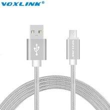 Voxlink заряда кабели плетеный edge передачи данных быстро plus металл micro