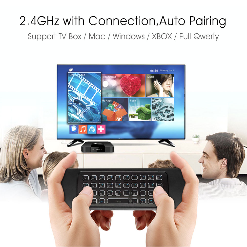 Image 3 - MX3 Backlit Air Mouse Smart Voice Remote Control MX3 Pro 2.4G wireless keyboard Gyro IR for Android TV Box T9 X96 mini H96 max-in Keyboards from Computer & Office