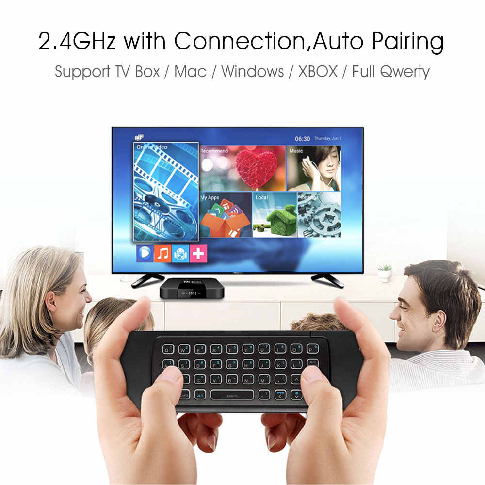 MX3 Backlit Udara Mouse Smart Voice Remote Control MX3 Pro 2.4G Keyboard Nirkabel Giro IR untuk Android TV Box t9 X96 Mini H96 Max
