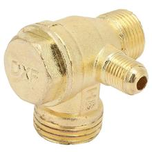 Воздушный компрессор обратный клапан латунный заполненный Трехходовой однонаправленный обратный клапан подключения фитинги трубы соединитель резьбовой клапан