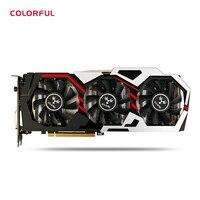 Новый GeForce IGame GTX 1080 ут V2 Топ красочные Графика карты 256bit GDDR5X компьютерного оборудования вентилятор с HDMI/DVI/DP 1,4 интерфейсы