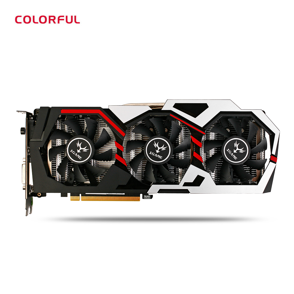Colorful iGame GTX 1080 UT V2 Top Gaming Graphic Card 256bit 8GB GDDR5X Computer Hardware With Cooler Fan DVI Interface