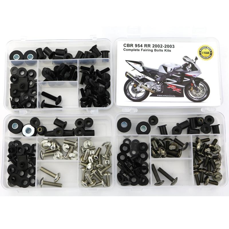 Fairing Bolt Motorcycle Complete Bodywork Fairing Clips Kits Screws For Honda CBR 900 RR CBR900RR CBR954 CBR 954 2002 2003