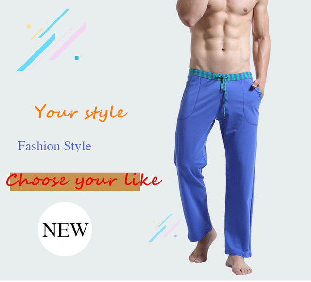 WJ Men's Home Casual Pants Straight Trousers Comfortable Cotton Soft Pants Foreign Trade