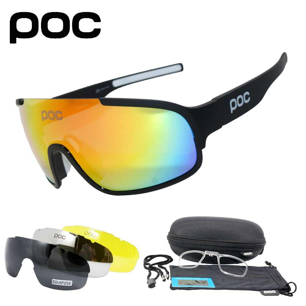ebb181c7cf 4 Lens UV400 Polarized Cycling SunGlasses Mountain Bike Goggles Cycling  Eyewear Bicycle Cycling Glasses 2018