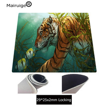 Mairuige Printing Water Grass Tiger Eating Fish Pattern Mouse Pad Home Large Size Table Mat Game Player Best Keyboard Pad