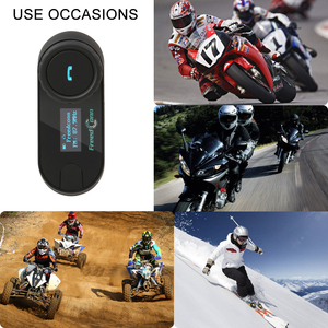 Image 5 - Ru Stock,FreedConn Motorcycle Helmet Intercom TCOM SC Motocycle Bluetooth Interphone Headset LCD Screen FM Radio T COM SC