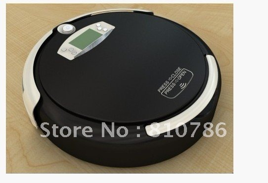 Good New!!! More 1pc Side Brush and more 1pc Mop Free For  Black Color 4 IN 1  Automatic Robot Vacuum Cleaner with 0.7L box