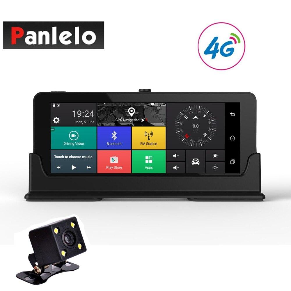 Car Dash Camera DVR 6.86 Android Video Recorder Quad Core 1GB 16GB ROM 3G/4G Wi-Fi Bluetooth Rear View Cam G-Sensor 1080P 1.3GH планшет prestigio grace pmt5718d 4g black pmt5718 4g quad core 1 0 ghz 2048mb 16gb 4g wi fi bluetooth cam 8 0 1920x1200 android