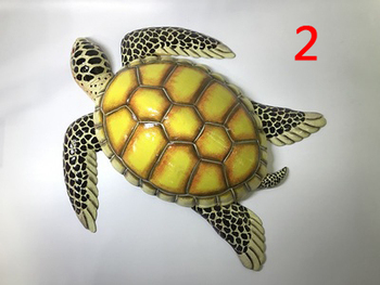 38CM Turtle seafood model food kitchen ocean mold wall hanging decoration department decorated crafts sculpture statues Home