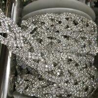 Beautiful Crystal Clear Rhinestone Trim Bridal Sash Chain Trim For Wedding Belt, Bridal Accessories New Arrivals