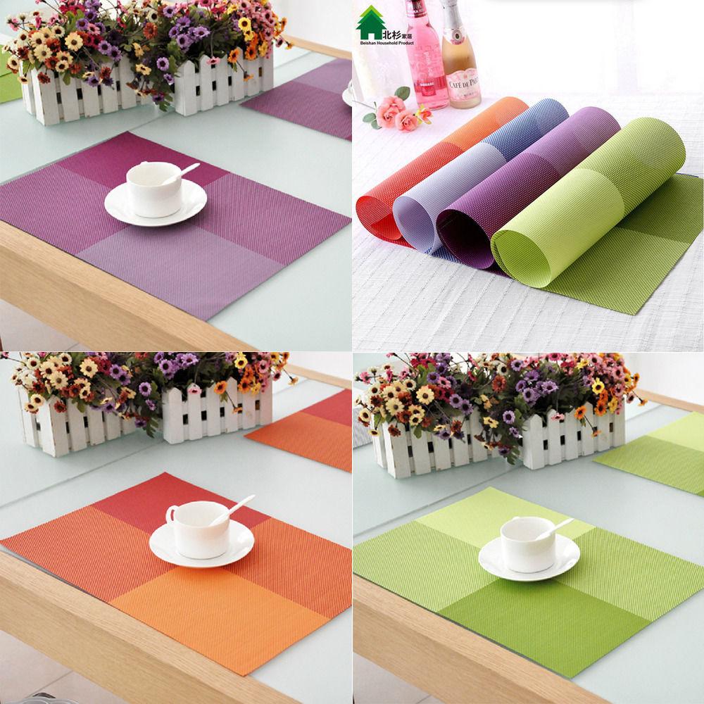 6pcs kitchen pvc placemats europe dining pads western table mats coaste wedding decoration - Individuales para mesa ...