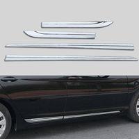 BBQ@FUKA Auto Car Side moulding For 2013 2015 Honda Accord MK9 Chrome ABS Car Door Body Side decorative Cover Trim car decals