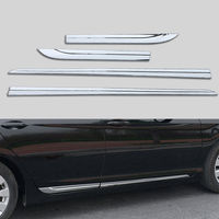 BBQ@FUKA Auto Car Side moulding For 2013 2015 Honda Accord MK9 Chrome ABS Car Door Body Side decorative Cover Trim car decals