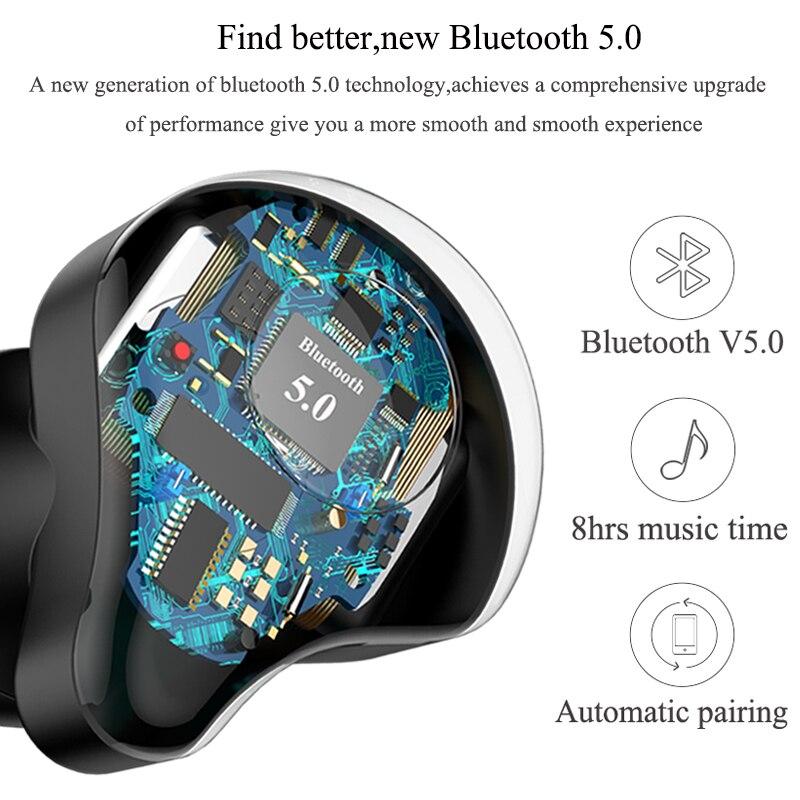 Professionnel Jumeaux Mini 3D Son Stéréo écouteurs bluetooth Invisible Vrai Sans Fil Étanche écouteurs de sport avec batterie externe - 2