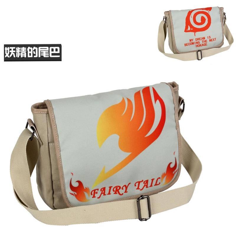 Cartoon Fairy Tail Tote Canvas Shoulder Handbag Bag Canvas Casual Messenger Travelling School Students Book Laptop(China)