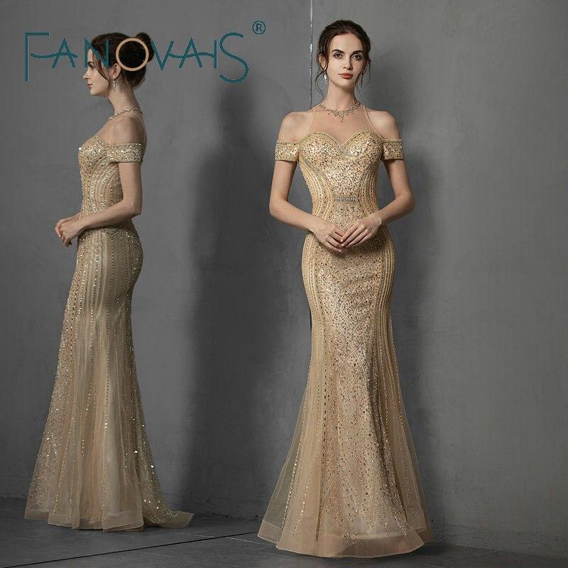 Luxury Evening Dresses Off Shoulder Prom Dress 2019 Vestido de Fiesta Robe de Soiree abiye gece elbisesi abendkleider