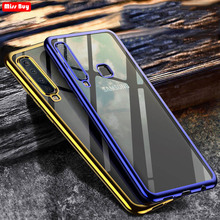 Ultra Thin Gold Plating Crystal Clear Case For Samsung galaxy A7 A9 J4 J6 2018 A6S A8S A10 A30 A40 A50 A70 M10 M20 M30 S10 Plus