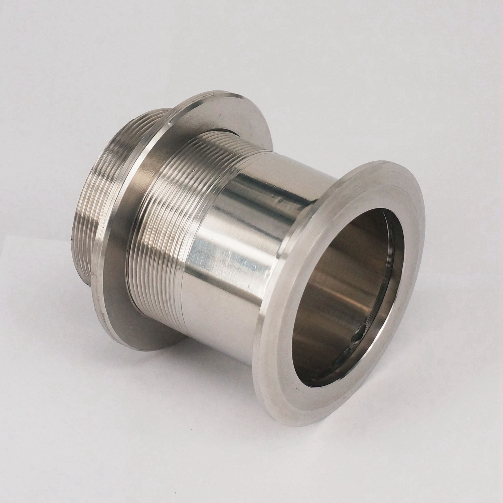 Fit Tube O/D 51mm 304 Stainless Steel Sanitary Bulkhead Pipe Fitting for tube 102mm tube o d x 106mm ferrule o d 304 stainless steel sanitary weld ferrule connector pipe fitting