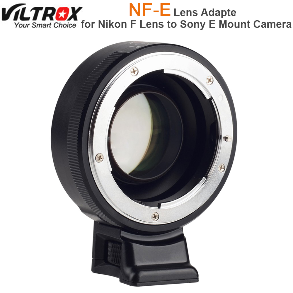 Viltrox Focal Reducer Speed Booster Lens Adapter Turbo w/ Aperture Ring for Nikon F Lens to Sony A7 A7R A7SII A6300 A6500 NEX-7 цена