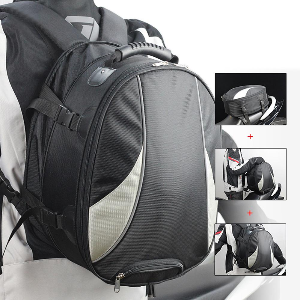 Waterproof Motorcycle Motorbike Backpack Tail Bag Large Capacity Rider Pouch