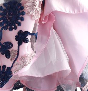 Image 5 - Ribbon Flowers Kids Dresses for Girls Princess Pink Lining Clothes Baby Children Costume for Kids Size 3 8T