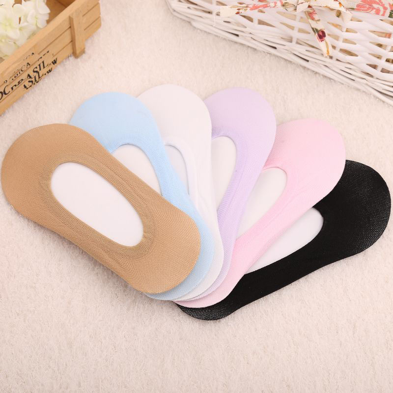 10 Pairs Women Invisible Footsies Shoe Liner Trainer Ballerina Boat Socks Ladies Thin Sock Slippers Solid Color One Size