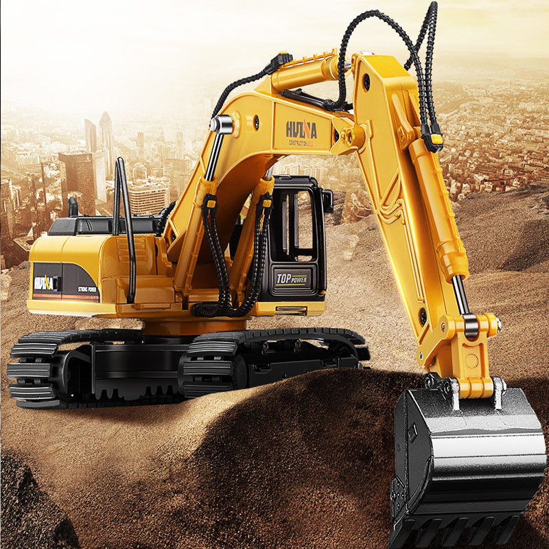 New 50 large excavator children 39 s alloy car model engineering car boy excavator Bulldozer Road Roller Excavator Car Toy in Diecasts amp Toy Vehicles from Toys amp Hobbies