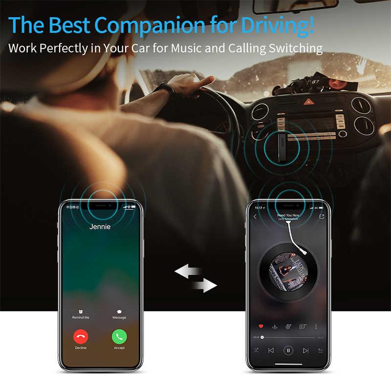 MEIDI bezprzewodowy odbiornik audio aux Adapter zestaw głośnomówiący zestaw samochodowy bluetooth 3.5mm jack Bluetooth 4.2 do głośnika słuchawki samochodowe
