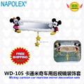 Acessórios do carro espelho retrovisor do carro dos desenhos animados de mickey mouse mortalha WD-105 frete grátis