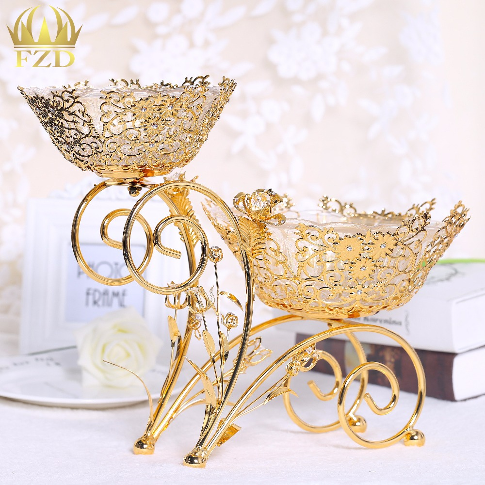 Diy Wedding Dishes: Thanksgiving Day Fruit Bowls Candy Dishes Gold For Wedding