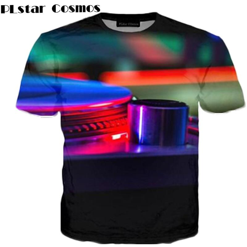PLstar Cosmos Brand clothing Technics Turntable DJ Music Audio Books 3D Printing T Shirts Women Men Fashion Summer Hip Hop R3882