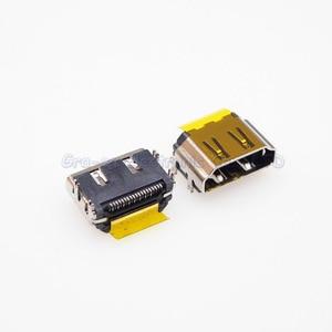 Prise femelle HDMI 19 broches 180 degrés SMT 19P, 50 pièces, Port inversé, 4 pieds de fixation