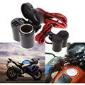 12-24V Motorcycle Scooter Handlebar Clamp Waterproof USB Charger With Cigarette Lighter Socket With blue light LED indicator