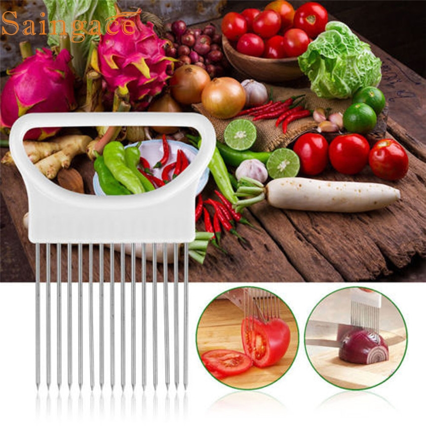 new arrival 2017 Tomato Onion Vegeta Ales Slicer Cutting Ai A Hol Aer Gui Ae Slicing Cutter Safe Fork #0823A A