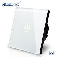 Wallpad EU Standard Touch Switch AC 110 250V Fan Speed Regulator Touch Switch White Wall Light