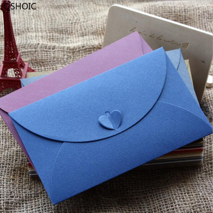 50pcs/lot New Vintage Romatic Heart DIY Multifunction Kraft Paper Post Card Envelope/card Bag/175*110mm G083